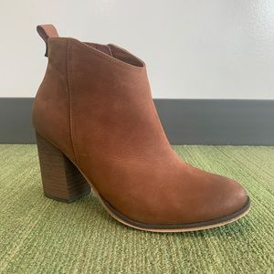 Nordstrom BP. Lance Leather Block Heel Ankle Boots
